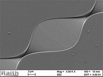 1mm长写场拼接的3维微流体混和器通道